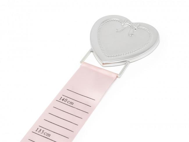Groeimeter met hart zilver kleur