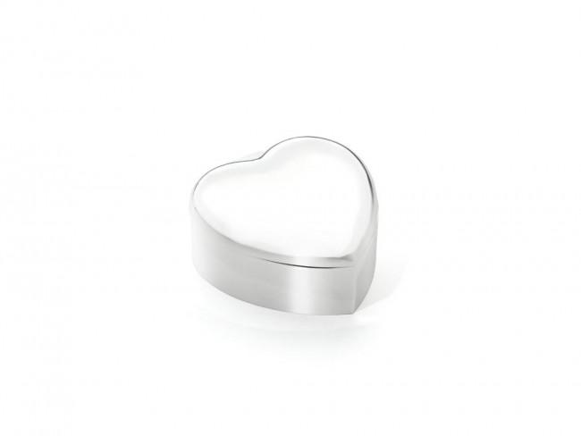 Sieradenspeeldoos Hart zilver kleur
