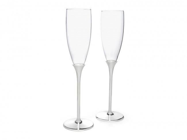Champagneglazen Smooth, set van 2, vz./l