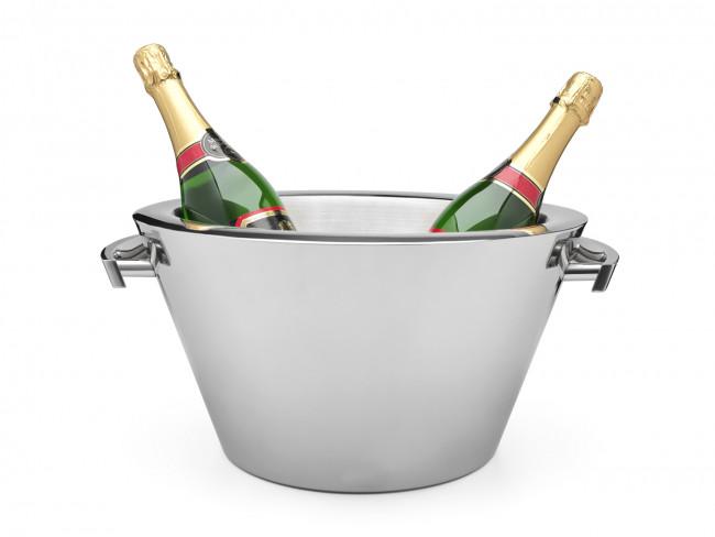 Champagneschaal dubbelwandig + grepen rvs