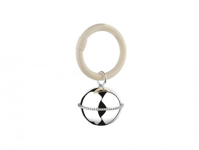 Rammelaar Bal parel aan ring 9x5,5x3,5cm vz. B90