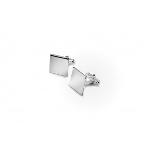 Manchetknopen vierkant 15mm zilver 925