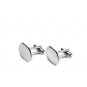 Manchetknopen Oval zilver 925