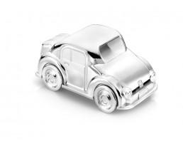 Spaarpot Auto, verzilverd gelakt