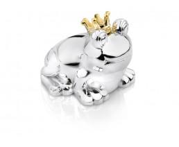 Spaarpot Kikker, zilver kleur