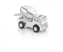 Spaarpot Cementwagen, verzilverd gelakt