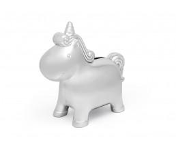 Spaarot Unicorn, zilver kleur