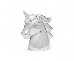 Spaarpot Unicorn, zilver kleur