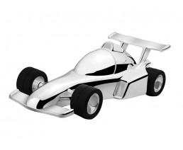 Spaarpot Racewagen, verzilverd gelakt