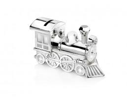 Spaarpot Locomotief, verzilverd gelakt